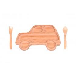 ست غذاخوری کودک طرح جیپ Bambum کد B2870