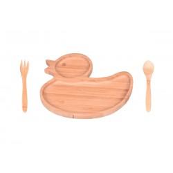 ست غذاخوری کودک طرح اردک Bambum کد B2873