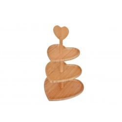 شیرینیخوری سهطبقه قلبی Bambum