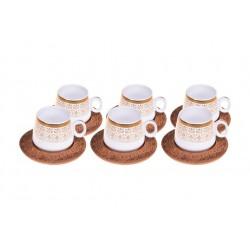 فنجان قهوه خوری با نوارهای طلایی Bambum کد B0175