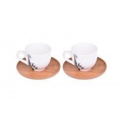 فنجان قهوهخوری دوتایی Bambum کد B0017