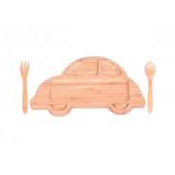 ست غذاخوری کودک طرح ماشین Bambum