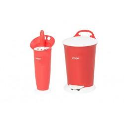 سطل و فرچه دستشویی ساده لیمون