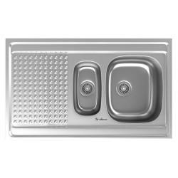 سینک ظرفشویی استیل داتیس مدل روکار کد D-A 122