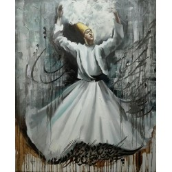 تابلو نقاشی مولایی طرح رقص سماع کد MRS04