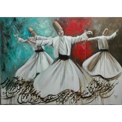 تابلو نقاشی مولایی طرح رقص سماع کد MRS05