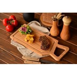 تخته گوشت دسته دار چوبی Bambum کدB2731