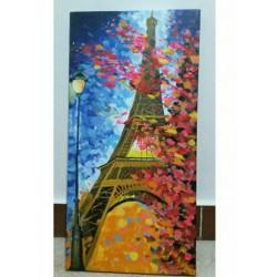تابلو نقاشی مدرن برج ایفل نیلو بوم کد NB9611