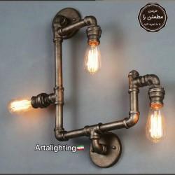 چراغ دیواری فلزی سه شعله آرتا کد 121