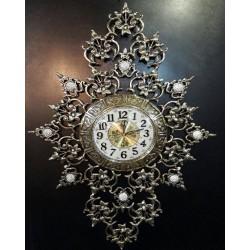ساعت دیواری برنزی طرح جواهر