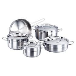 سرويس 9 پارچه غذاپز مدل آلفا کد 1660 ست آشپزی