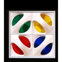 پنل سه بعدی طرح XO مدل پلکسی 4 رنگ