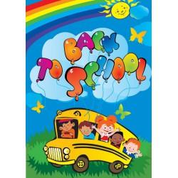 پوستردیواری طرح اتوبوس مدرسه کد KD.218