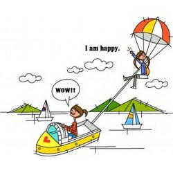 پوستردیواری طرح کارتونی بالون و قایق کد FU015
