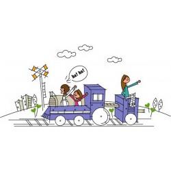 پوستردیواری طرح کارتونی سفر با قطار کد FU024