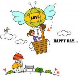 پوستردیواری طرح کارتونی بالون شادی کد FU029