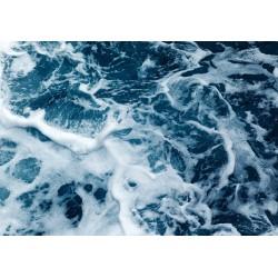 پوستردیواری طرح امواج کف آلود کد F003
