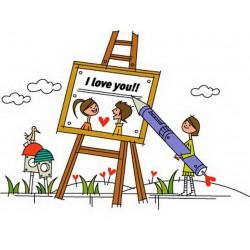 پوستر دیواری طرح کارتونی نقاشی زیبا کد FU.033