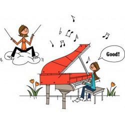 پوستر دیواری طرح کارتونی پیانو کد FU.038