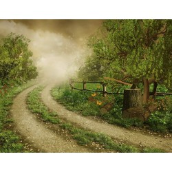 پوستردیواری طرح جاده مه گرفته کد NT.045