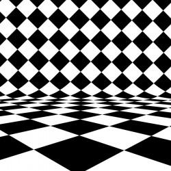 پوستردیواری طرح سه بعدی شطرنج وارونه کد 3D.008 پوستر دیواری