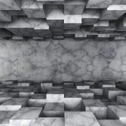 پوستردیواری طرح مکعب سنگی کد 3D.015
