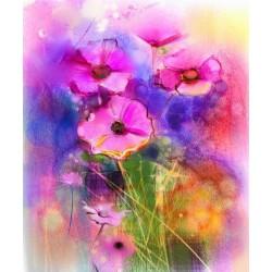 پوستردیواری طرح گل های بنفش کد Pa.003