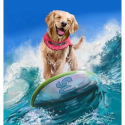 پوستر دیواری طرح سگ موج سوار کد P021
