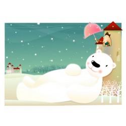 پوستردیواری طرح کارتونی خرس قطبی کد KD.011