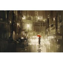 پوستردیواری طرح باران کد City.113
