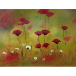 تابلو نقاشی چاپ طرح گل های وحشی کد PA.ART 303