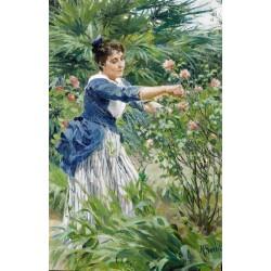 تابلو نقاشی طرح چیدن گل کد PA.ART622