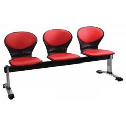صندلی انتظار سه نفره مدل صدفی تمام تشک کد WS - 3