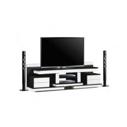 میز تلویزیون سفید مشکی های¬گلاس کد 2022