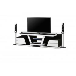 میز تلویزیون سفید مشکی های¬گلاس کد 2023