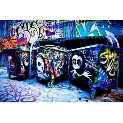 پوستردیواری طرح نقاشی مدرن گرافیتی کد Gr.009