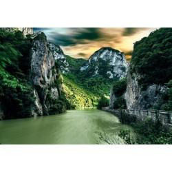 پوستردیواری طرح رودخانه کوهستانی کد Nu.034