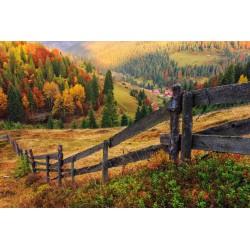پوستردیواری طرح حصار چوبی مزرعه کد Nu.021