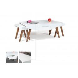 میز جلو مبلی و میز عسلی سفید طرح شرقی