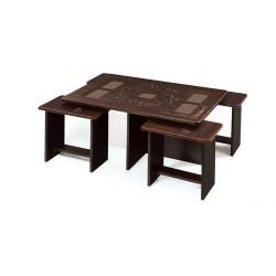 میز جلو مبلی و میز عسلی نیمکتی طرح دار