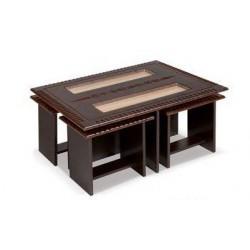 میز جلو مبلی و میز عسلی طرح درب قدیمی