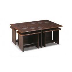میز جلو مبلی و میز عسلی با طرح مربعی