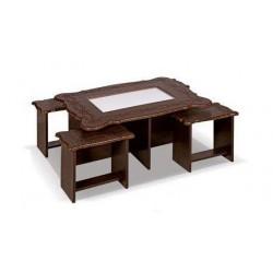 میز جلو مبلی و میز عسلی نیمکتی مقعر