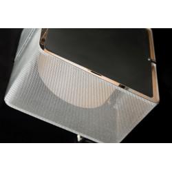 آباژور رومیزی مربعی فلزی کد 9011312541