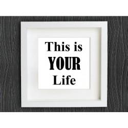 تابلو برجسته روشا طرح your life کد 410