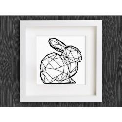 تابلو برجسته روشا با طرح خرگوش کد 203