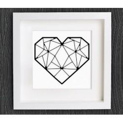 تابلو برجسته روشا طرح قلب کد 161