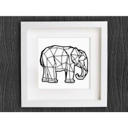 تابلو برجسته روشا طرح فیل کد 190