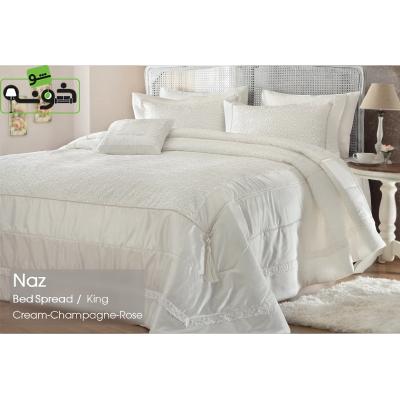 رو تختی کینگ پنبه-پلی استر 4 تکه مدل Naz