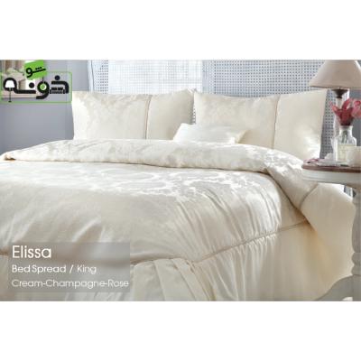 رو تختی کینگ پنبه-پلی استر 4 تکه مدل Elissa